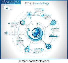 visualisering, infographic, data, skabelon, statistiske