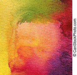 watercolor, mal, abstrakt, baggrund