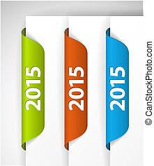 (web), etiketter, /, udkant, vektor, 2015, stickers, side