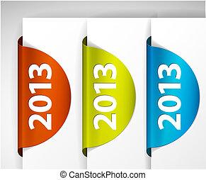 (web), etiketter, /, udkant, vektor, stickers, omkring, 2013, side