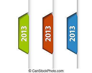 (web), etiketter, /, udkant, vektor, stickers, side, 2013