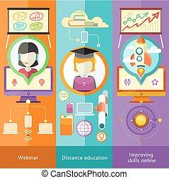 webinar, afstand, forbedre, færdigheder, undervisning