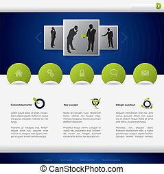 website, konstruktion, firma, skabelon
