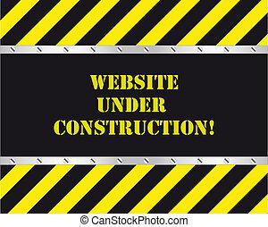 website, konstruktion, under