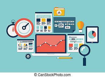 website, seo, analytics, iconerne