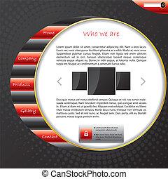 website, skabelon, stribet, konstruktion