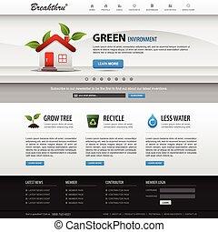website, væv formgiv, skabelon, element