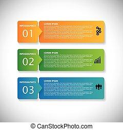 websites, denne, række, og, bruge, etiketter, banners., markedsføring, foranstaltninger, vektor, infographic, farverig, grafik, enkel, -, blive, præsentationer, reklame, osv., webdesigns, arbejdsmateriale, firma, dåse
