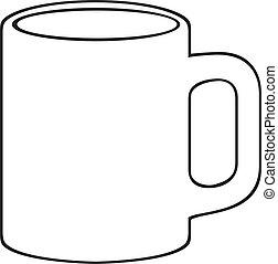 (white, kaffe krus, cup)