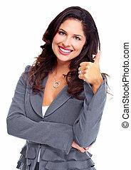woman., success., firma, glade