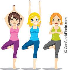 yoga, kvinder